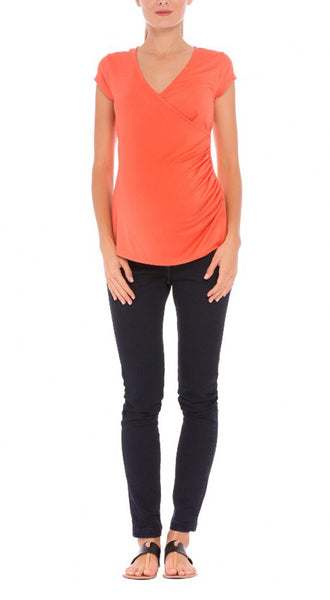 "Olian ""Lucy"" Shirred Side Maternity/Nursing Top"