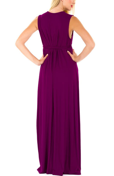 The Olian Shirred Rayon Knit Long Dress