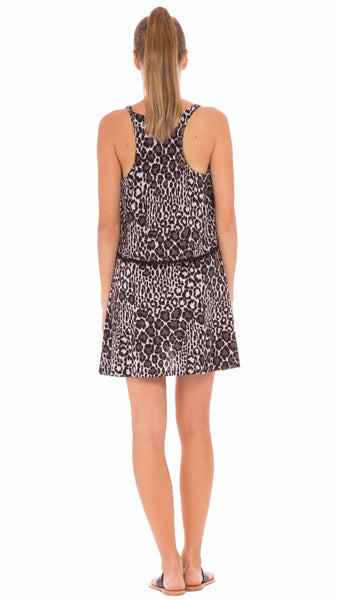 "The Olian ""Jane"" Leopard Print Maternity/Nursing Nightgown"