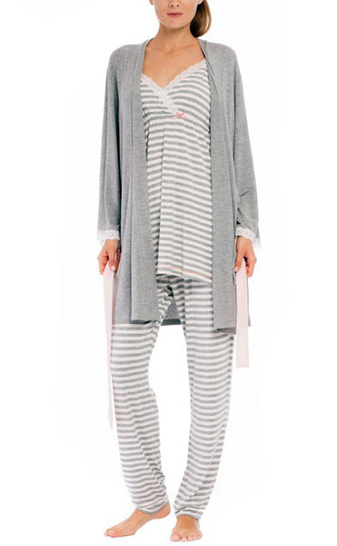 "Olian ""Anne"" Nursing Stripe Cami/Pajama Set with Baby Gown"