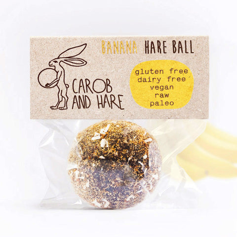 Banana Hare Ball - Carob and Hare | Raw, Vegan & Gluten-Free Snack Foods