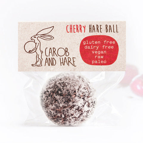 Cherry Hare Ball - Carob and Hare | Raw, Vegan & Gluten-Free Snack Foods