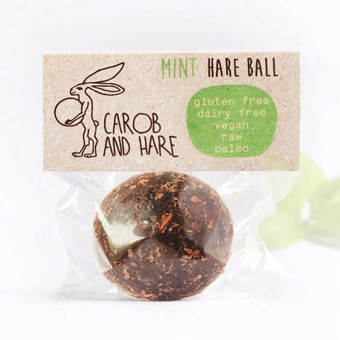 Mint Hare Ball - Carob and Hare | Raw, Vegan & Gluten-Free Snack Foods