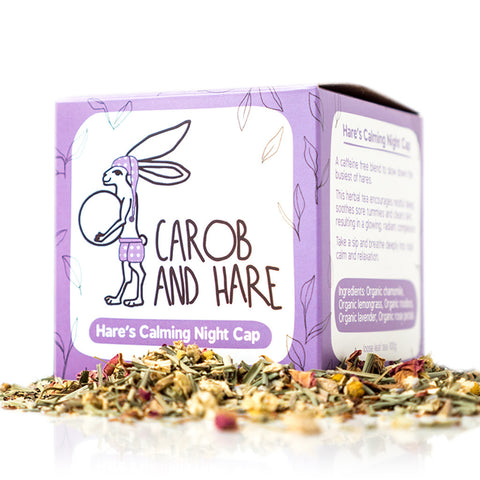 Hare's Calming Night Cap - Carob and Hare | Raw, Vegan & Gluten-Free Snack Foods