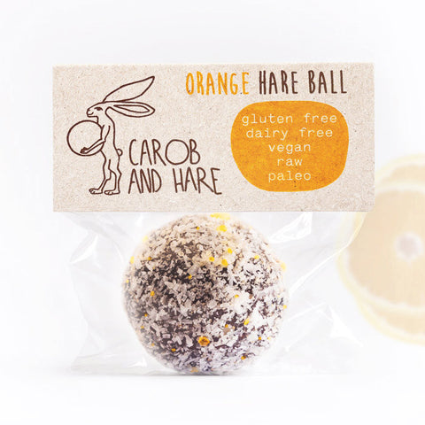 Orange Hare Ball - Carob and Hare | Raw, Vegan & Gluten-Free Snack Foods