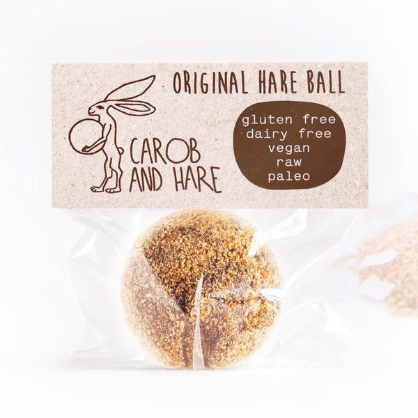 Original Hare Ball - Carob and Hare | Raw, Vegan & Gluten-Free Snack Foods
