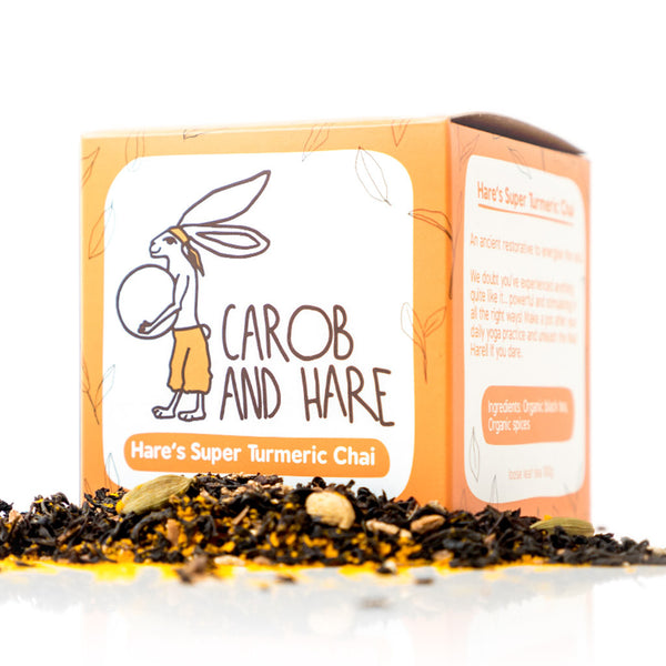 Hare's Super Turmeric Chai - Carob and Hare | Raw, Vegan & Gluten-Free Snack Foods
