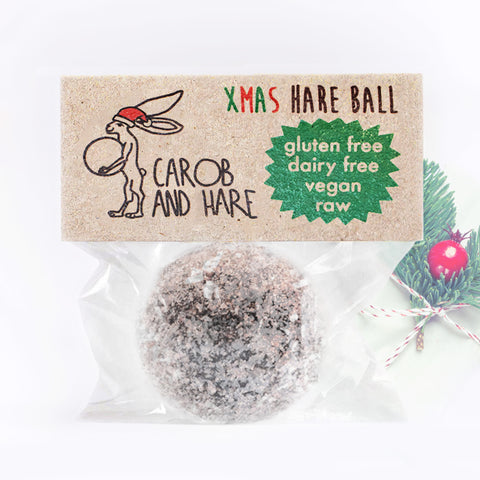 Xmas Hare Ball - Carob and Hare | Raw, Vegan & Gluten-Free Snack Foods