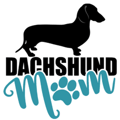 Dachshund Mom SH (Teal)