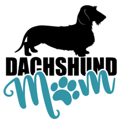 Dachshund Mom WH (Teal)
