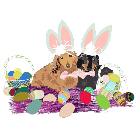 Easter Dachshunds