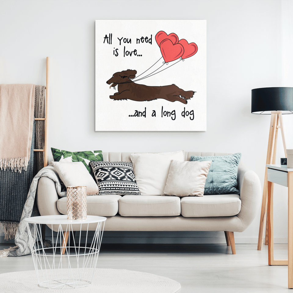 All You Need Is Love LH (Red) Canvas Print