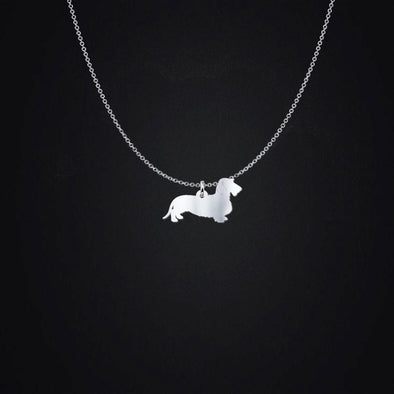 Wirehair Dachshund Sterling Silver Pendant