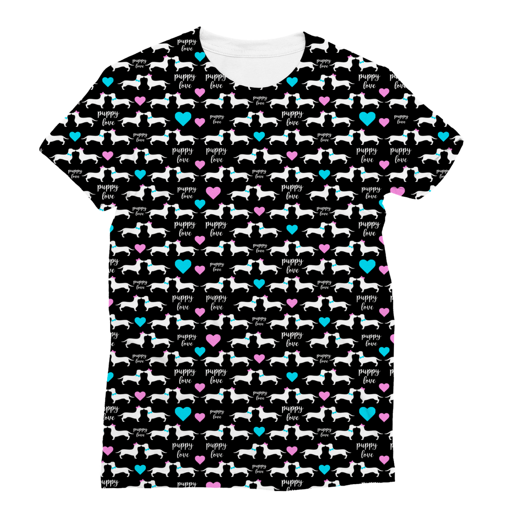 Doxie Puppy Love Classic Sublimation Women's T-Shirt