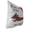 All You Need Is Love SH (Red) Throw Pillow