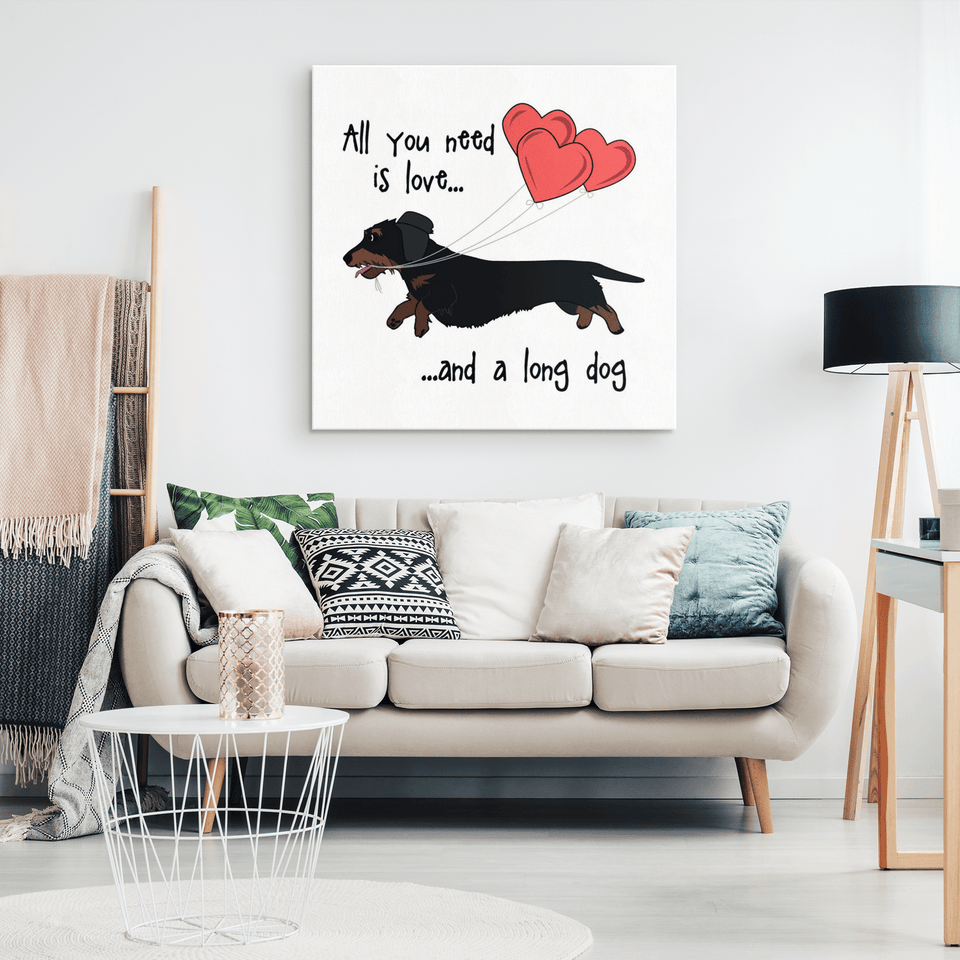 All You Need Is Love WH (B&T) Canvas Print