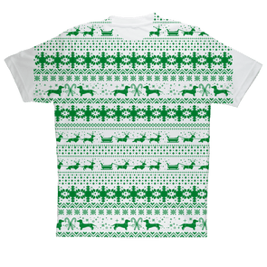 Xmas Sleigh pattern for Gooten Sublimation Performance Adult T-Shirt