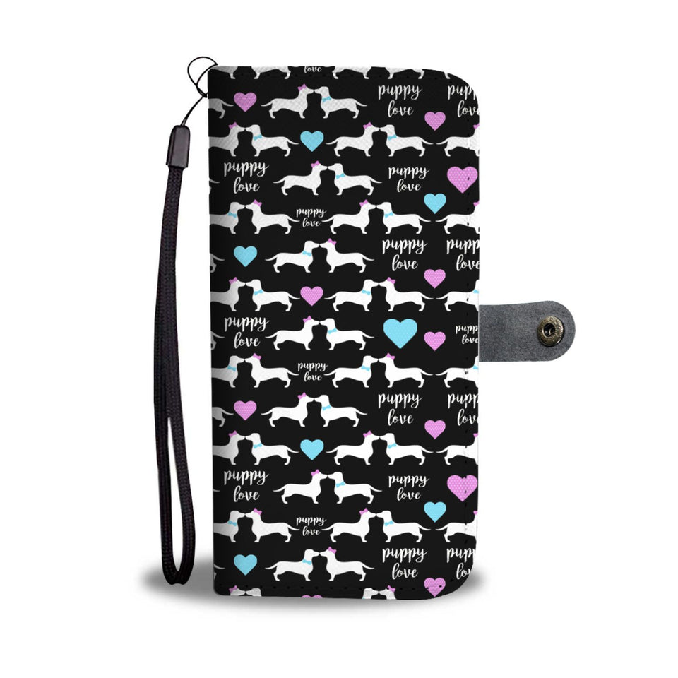Doxie Puppy Love Wallet Phone Case