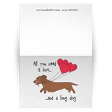 All You Need Is Love WH (Red) Greeting Cards