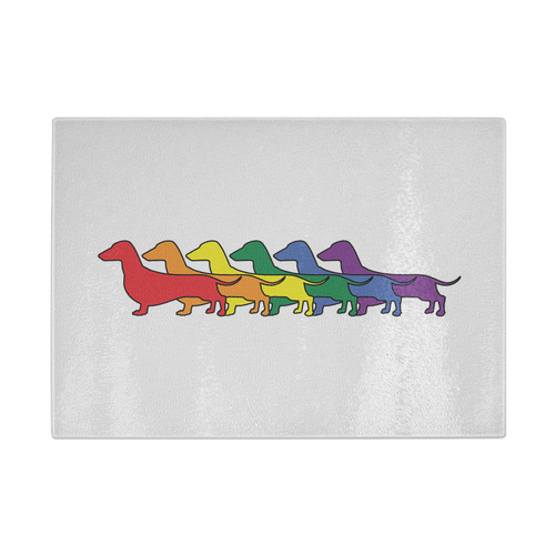 Rainbow Pride Dachshunds Cutting Board