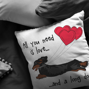 All You Need Is Love LH (B&T) Throw Pillow