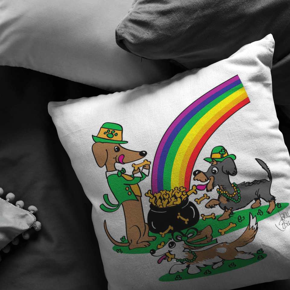 Pot O' Bones Throw Pillow