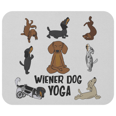 Wiener Dog Yoga Mouse Pad