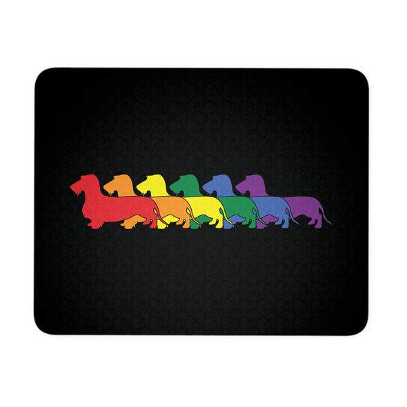 Rainbow Pride Wirehair Mouse Pad