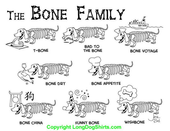 The Bone Family Ladies' V-Neck Tee