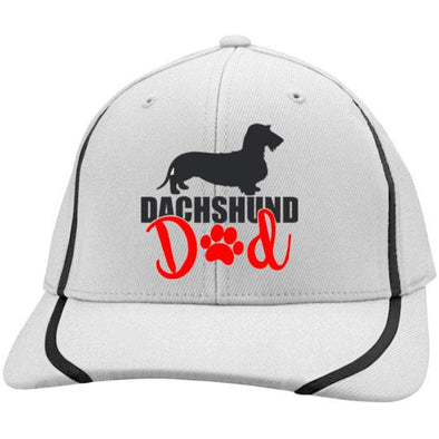 Dachshund Dad Wirehair (Red) Embroidered Flexfit Colorblock Cap