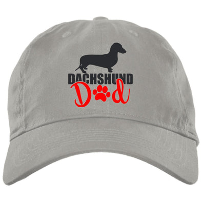 Dachshund Dad Shorthair (Red) Embroidered Brushed Twill Unstructured Cap