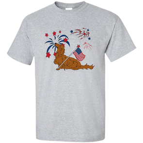 Patriotic Longhair Red Ultra Cotton T-Shirt