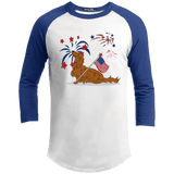 Patriotic Longhair Red Baseball Shirt