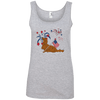 Patriotic Longhair Red Ladies' 100% Ringspun Cotton Tank Top