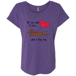 All You Need Is Love (Red) Next Level Ladies' Tri-blend Dolman Sleeve
