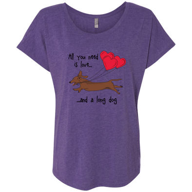 All You Need Is Love SH (Red) Ladies' Tri-blend Dolman Sleeve