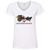 Wonder Wiener Ladies' V-Neck T-Shirt