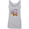 Patriotic Wirehair Red Ladies' 100% Ringspun Cotton Tank Top