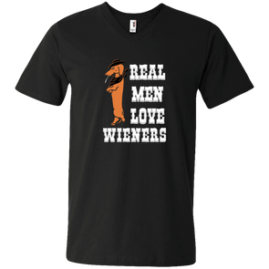 Real Men Love Wieners V-Neck T-Shirt