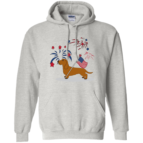 Patriotic Wirehair Red 50/50 Pullover Hoody