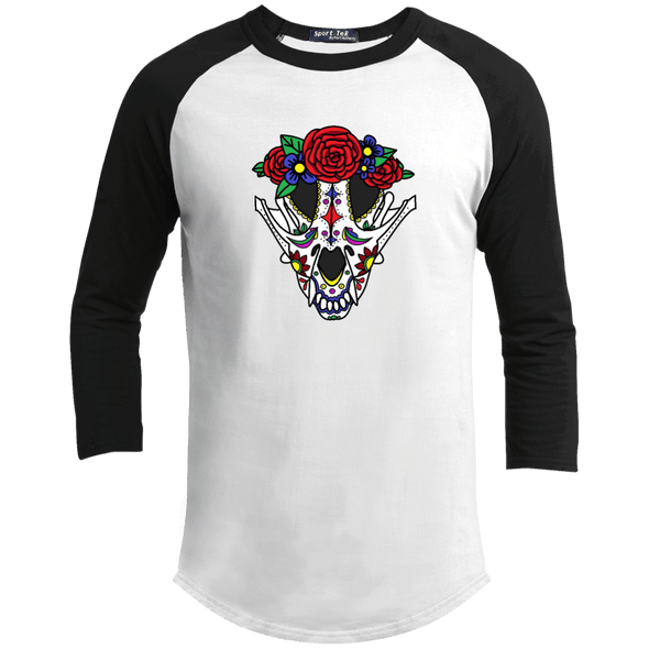 Canine Sugar Skull Baseball Shirt