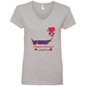 Long To Love You Ladies' V-Neck T-Shirt