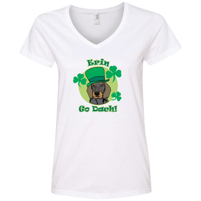 Erin Go Dach (WH) Ladies' V-Neck T-Shirt