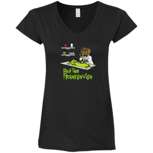 Dachtor Frankenwien Ladies' Softstyle Fitted V-Neck T-Shirt