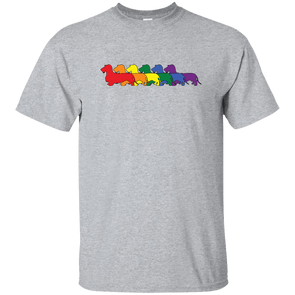 Rainbow Pride Wirehair Dachshunds Unisex Ultra Cotton T-Shirt