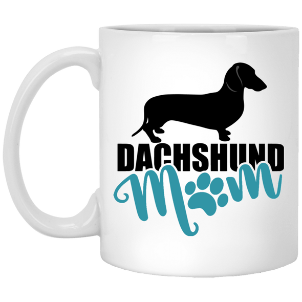 Dachshund Mom Shorthair (Teal) 11 oz. Ceramic Mug