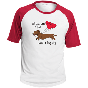 All You Need Is Love WH (Red) Colorblock Raglan Jersey