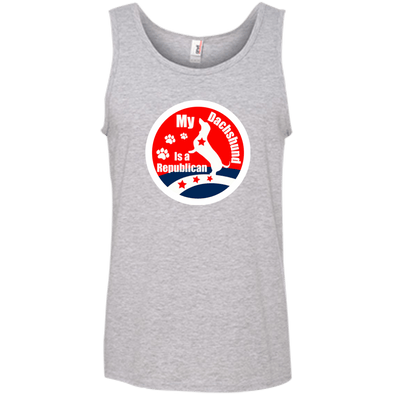 My Dachshund Is A Republican 100% Ringspun Cotton Tank Top