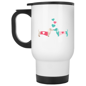 Kissing Doxies 14 oz. Stainless Steel Travel Mug
