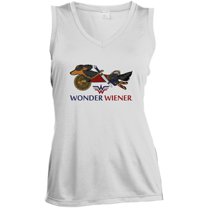 Wonder Wiener Ladies' Sleeveless Moisture Absorbing V-Neck